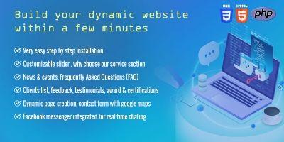 Website Builder PHP Based Laravel Script
