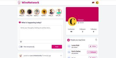 WireNetwork Social Media Networking Platform