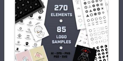 270 Logo Creator Elements And 85 Sample Logos