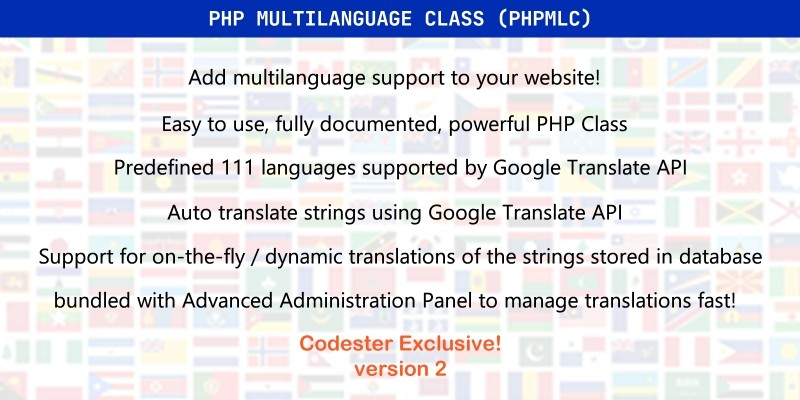 PHP Multilanguage Class PHPMLC
