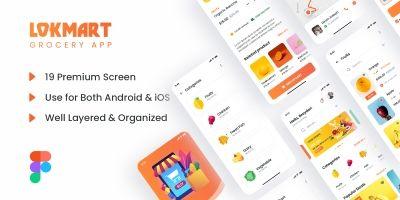 LokMart - Grocery Mobile App UI Kit - Figma
