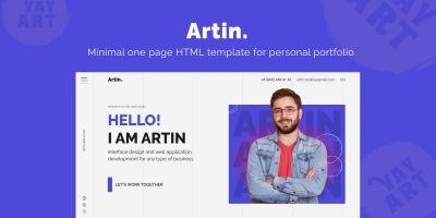 Artin - Personal Portfolio Template