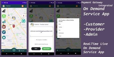 Multi Vendors On Demand Service App  RealTime Live