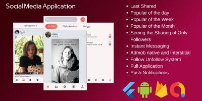 Social Media App Built with Flutter Firebase