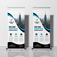Creative Corporate Business Roll Up Banner Design