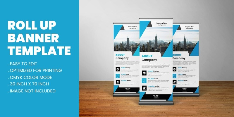Corporate Business Roll Up Banner Standee Design