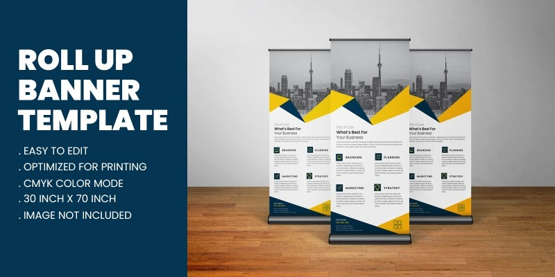 Business Agency Roll Up Banner Standee Template