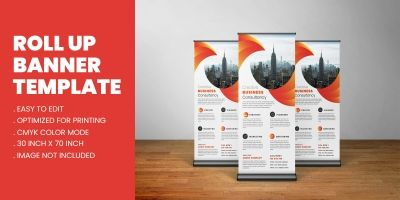 Corporate Business Agency Roll Up Standee Template
