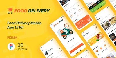 Food Delivery - Mobile App UI Kit - Figma