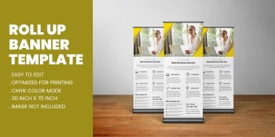 Modern Corporate Business Roll Up Standee Template