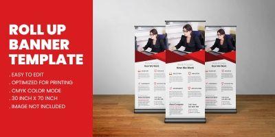 Modern Business Roll Up Banner Standee Template