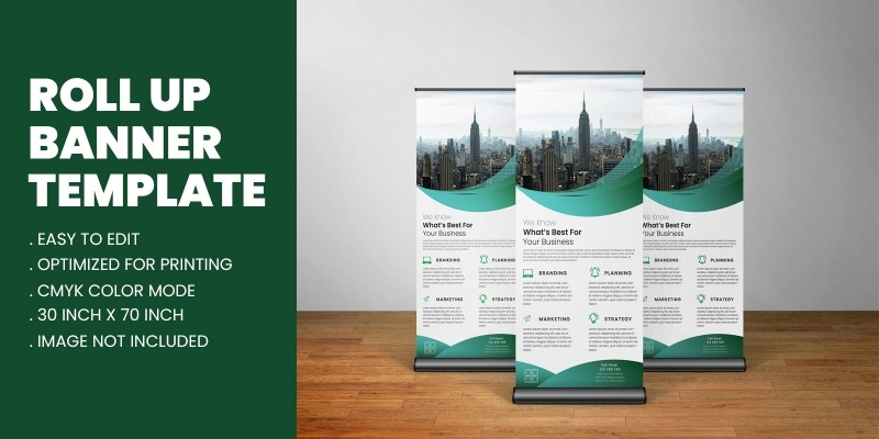 Green Corporate Business Roll Up Banner Template