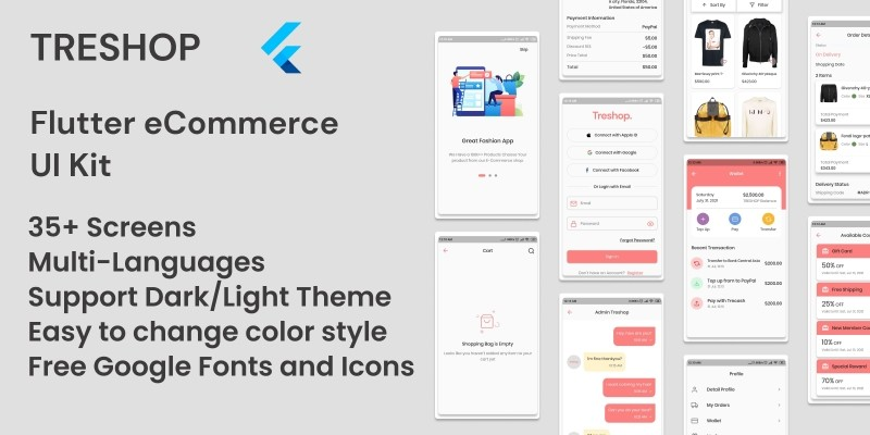 TreShop - Flutter eCommerce UI Kit