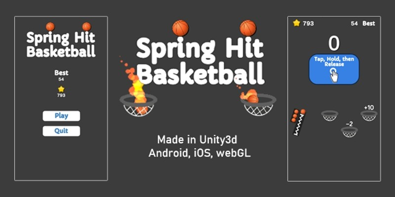 Spring Hit Basketball - Unity3d source code