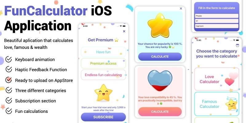 Fun Calculator - Full iOS Application