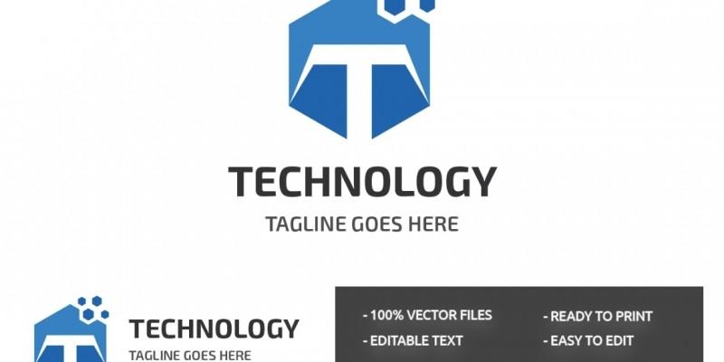 Letter T  Technology Logo