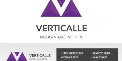 Verticalle Letter V Logo