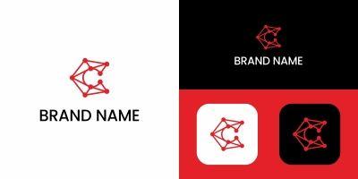 Letter C Tech Logo Design