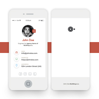 Smartphone Style Business Card template
