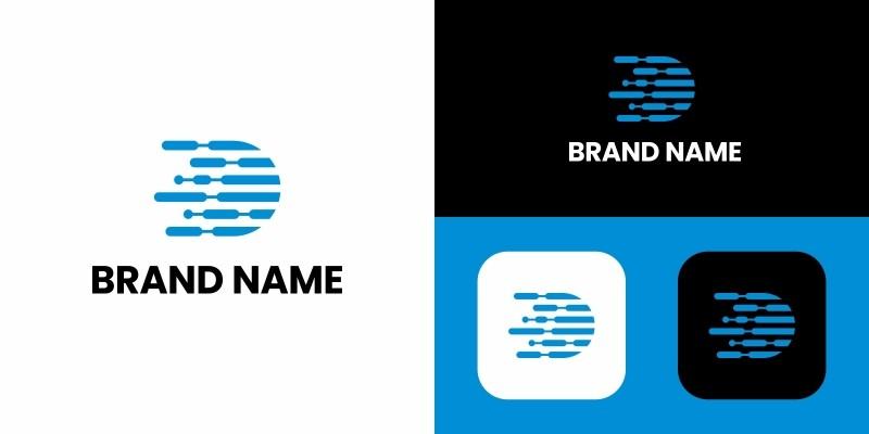 Letter D Modern Logo