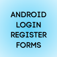 Android Login Register Pages UI with Firebase