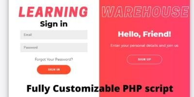 Learning Warehouse PHP Script