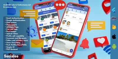 Socialoo - Full Flutter Application