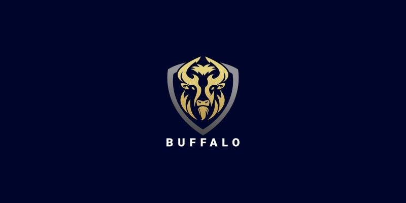 Buffalo Head Shield Logo