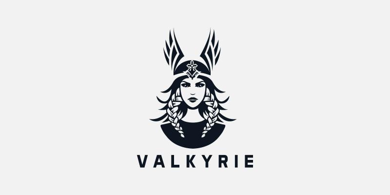 Valkyrie Woman Creative Logo