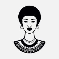 African Woman Creative Logo