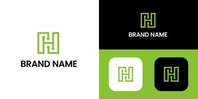 Letter H Tech Logo Template
