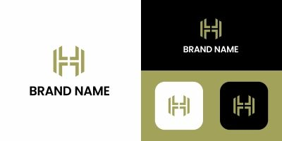 Abstract H Logo Template