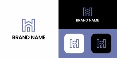 Letter H Home Logo Template