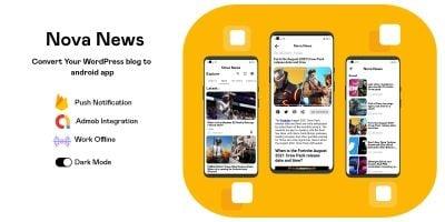 NovaNews - Convert Your WordPress Blog  To Android
