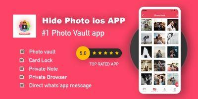Hide Photo - Gallery vault - iOS App Source Code