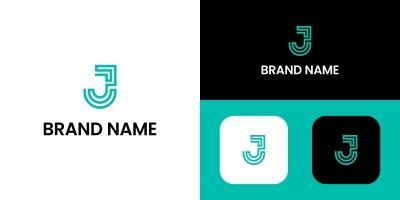 Letter J Tech Logo Design