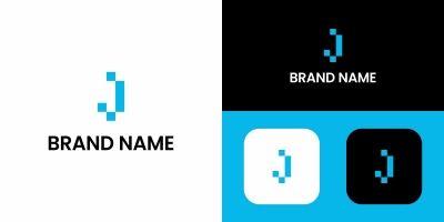 Letter J Technology Logo Design