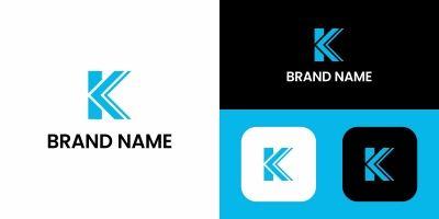 Letter K Tech Logo Design