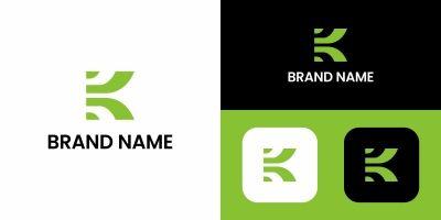 Letter K Abstract Logo Design