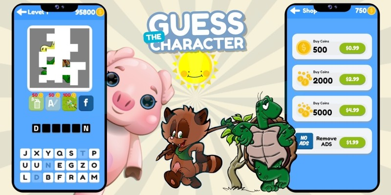 Guess The Character Construct 3 Word Puzzle Game