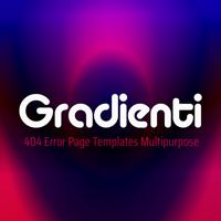 Gradienti - 404 Error Page Templates Multipurpose