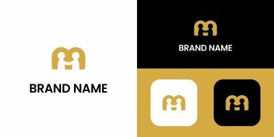 Letter M People Logo Design
