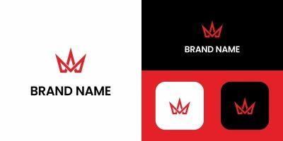Letter M Crown Logo Design