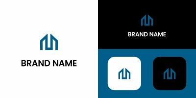 Letter M Building Logo Design