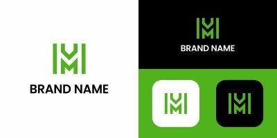 Letter M Green Logo Design