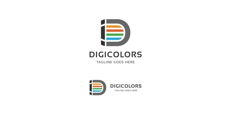 Letter D - Digicolors Logo
