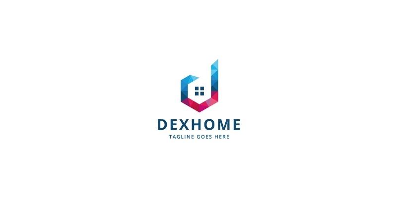 Letter D Real Estate Dexhome Logo