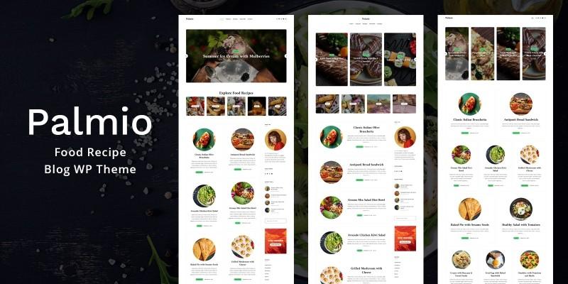 Palmio Food Recipe Blog WordPress Theme