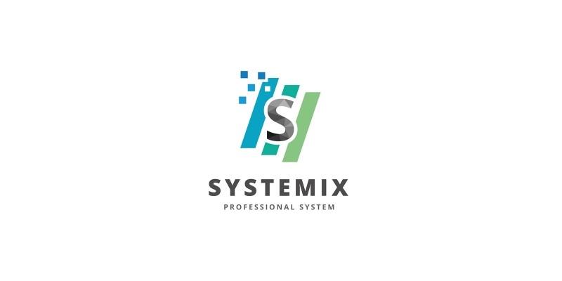 System - Letter S  Logo