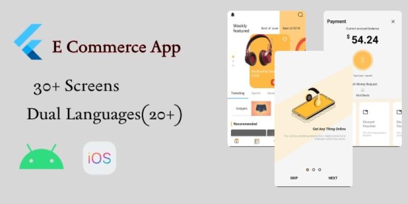 Flutter ECommerce - UI Template